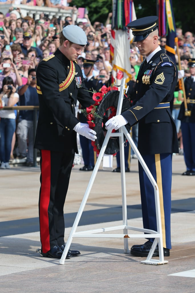 Prince Harry visited Virginia.