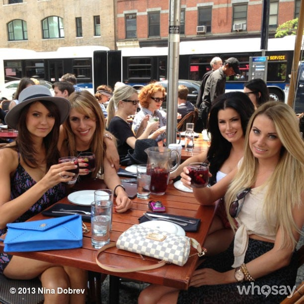 Nina Dobrev spent time with her ladies. Is that sangria? Source: Nina Dobrev on WhoSay
