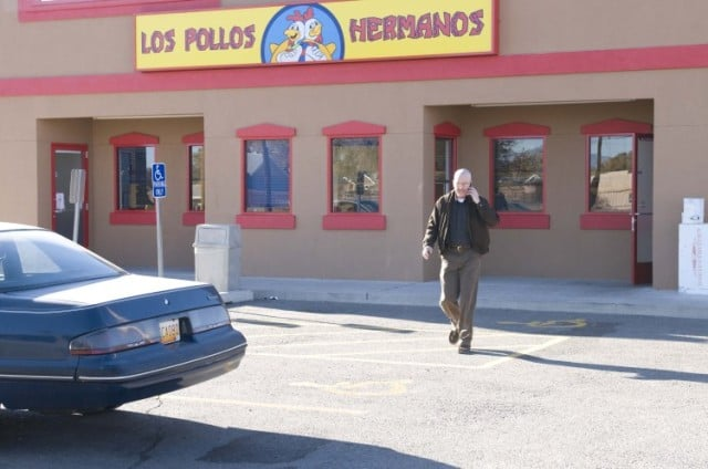 For those who haven't watched Breaking Bad, Los Pollos Hermanos is a fictional chicken joint owned by a major meth distributor.
