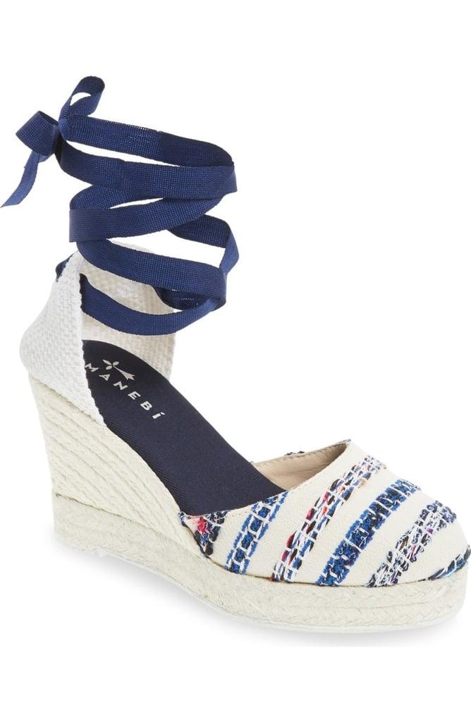Manebi Ibiza Espadrille Wedge Sandal ($175)
