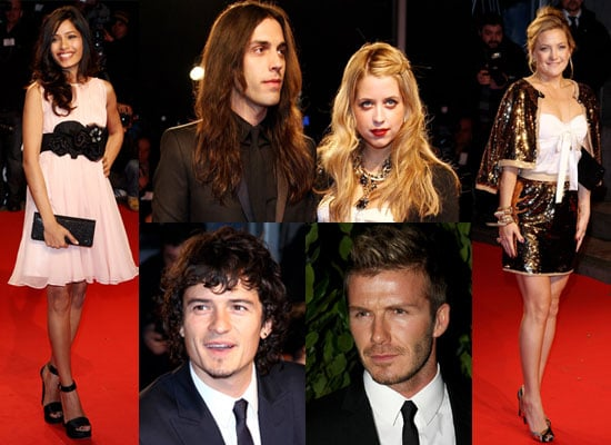 Photos of David Beckham, Orlando Bloom, Peaches Geldof, Blake Wood, Freida Pinto and Kate Hudson at Extreme Beauty Party Milan