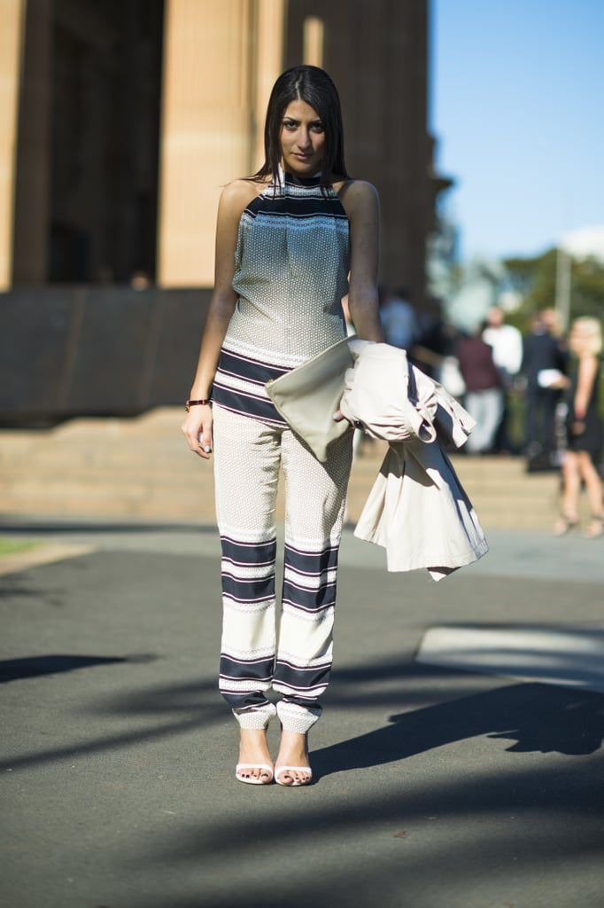 Dressed-up prints and a pair of fresh white sandals provided polished Spring styling inspiration. Source: Le 21ème | Adam Katz Sinding