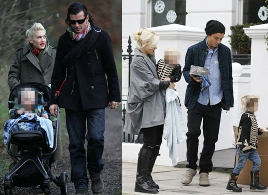 Photos of Gwen Stefani and Gavin Rossdale With Kingston and Zuma Spending Christmas in London's Hampstead Heath