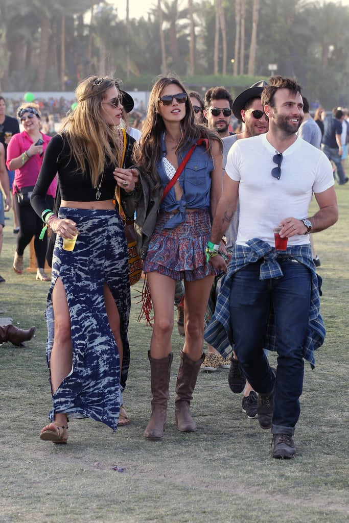 Alessandra Ambrosio and Jamie Mazur made the rounds at Coachella.