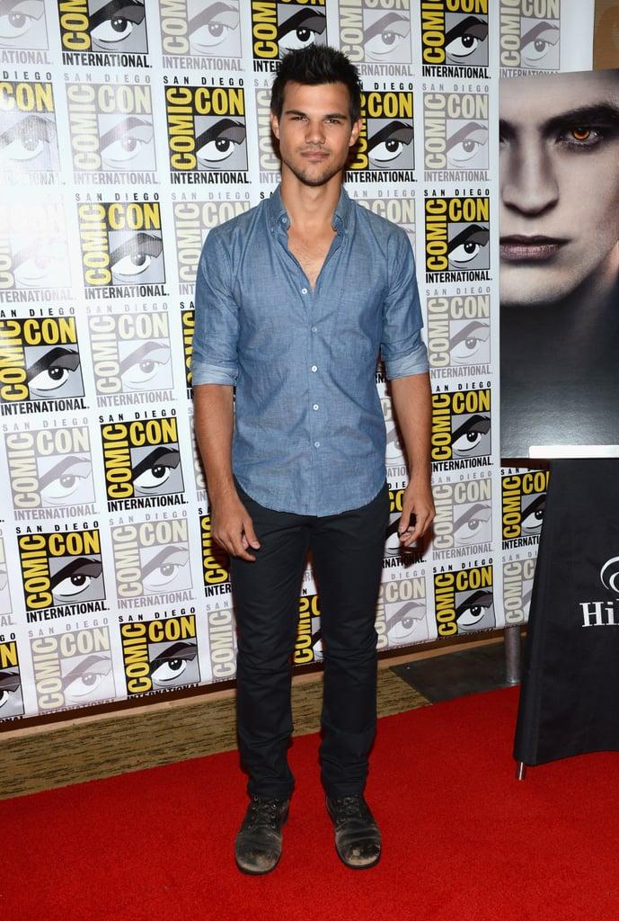 Taylor Lautner posed in San Diego.