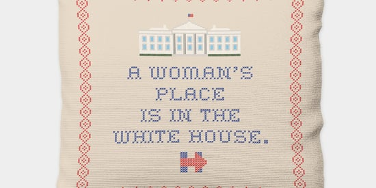 You Can Now Own That Hillary Clinton Needlepoint Pillow You've Always Dreamed Of