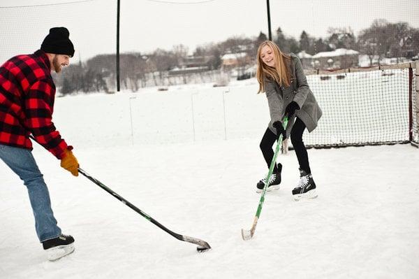 Hockey Engagement Shoot