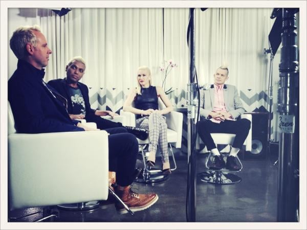 Gwen Stefani and the boys of No Doubt sat for the first interview of their album promotion tour. Source: Twitter user nodoubt