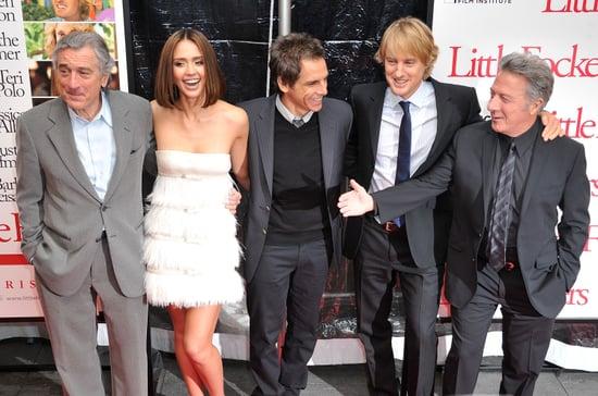 Jessica Alba, Owen Wilson, Ben Stiller, Robert De Niro, and Dustin Hoffman at the Premiere of Little Fockers in New York City
