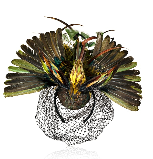 Editors' Pick: Classic Anna Dello Russo — no collection would be complete without a dramatic headpiece. If you're brave enough to wear it (and we think you are), dress up a minimalistic LBD with this piece. Chances are, you'll steal the show.