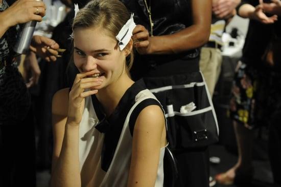 Spring 2012 Backstage Pictures: Versace, Etro, Blumarine
