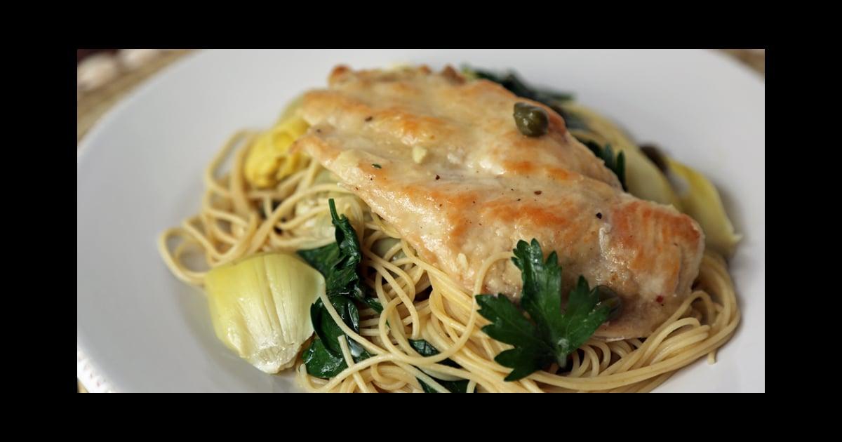 Chicken, Artichokes, and Angel Hair Recipe | POPSUGAR Food