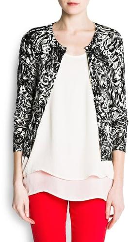 Floral print cotton cardigan