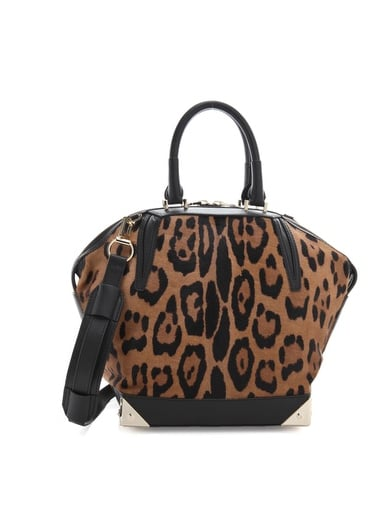Fashion Week requires a bag with enough space for tickets, mags, notepads, iPads — you name it. This carryall does the job all while illiciting loads of compliments.  Alexander Wang Emile Small Haircalf Satchel ($1,100)