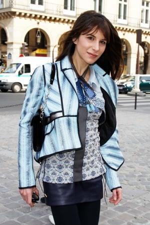 Caroline Sieber Wearing Galactic Jacket at 2010 Fall Paris Fashion Week
