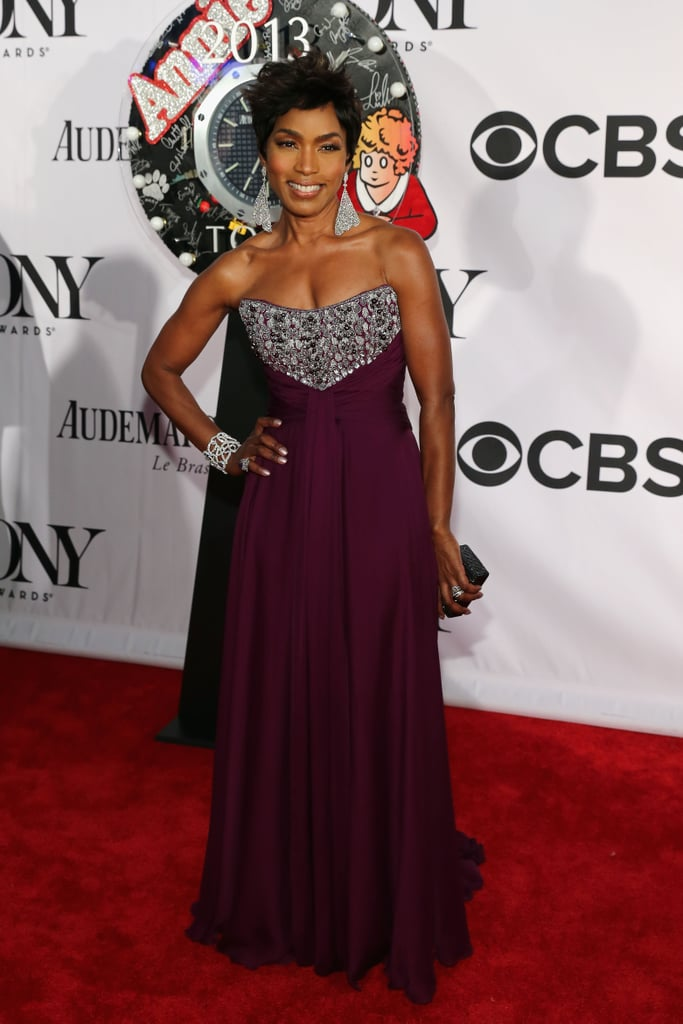 Angela Bassett was a vision in an embellished plum-hued strapless gown and megawatt jewels.