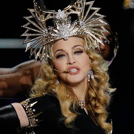Madonna's Super Bowl Makeup Features 18 Carat Rose Gold
