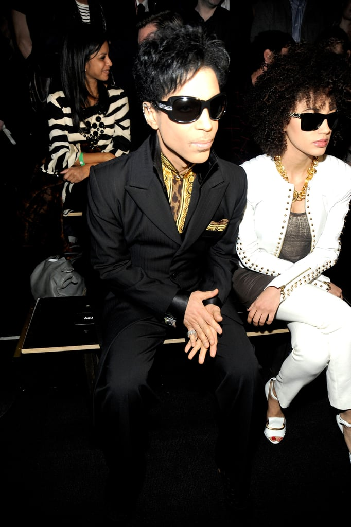 Prince sat front row.