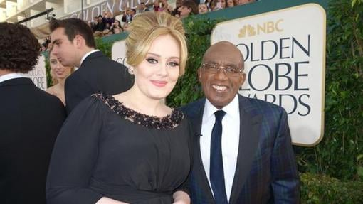 Al Roker posed on the red carpet with Adele. Source: Twitter user alroker