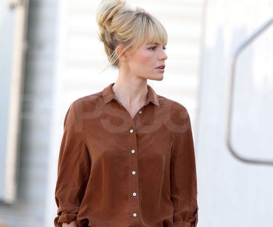 Slide Picture of Kate Bosworth Leaving the Set of BFF and Baby