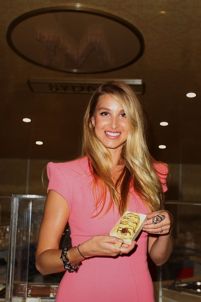 Whitney Port held up her Magnum creation (and chatted to us!) at the launch of the Magnum Sydney Pleasure Store in Westfield Sydney on July 17.