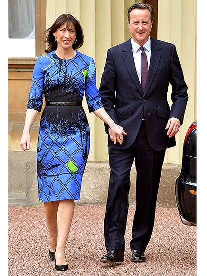 UK's First Lady Samantha Cameron Meets the Queen in a Preen Dress