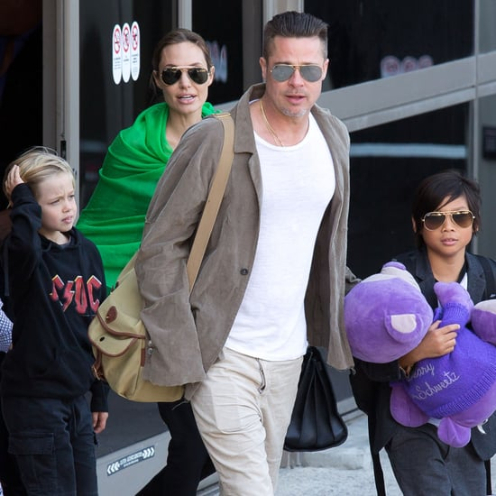 Brad Pitt and Angelina Jolie's Family Back in California