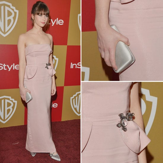 Felicity Jones Golden Globes Party Fashion 2013