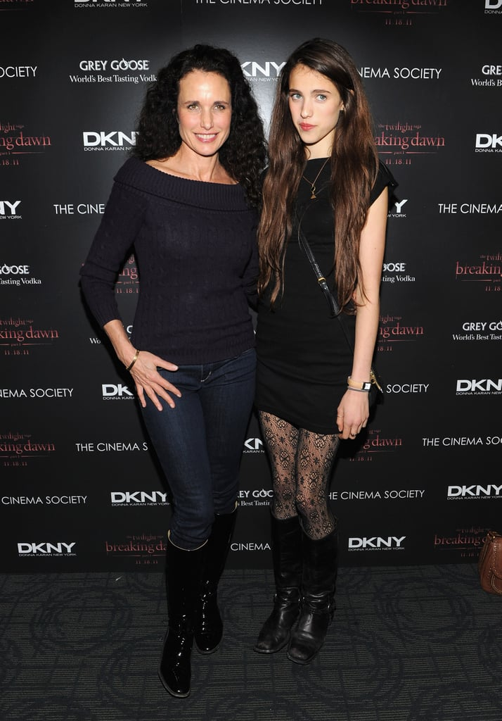 Andie MacDowell and Rainey Qualley took in a screening of Breaking Dawn.