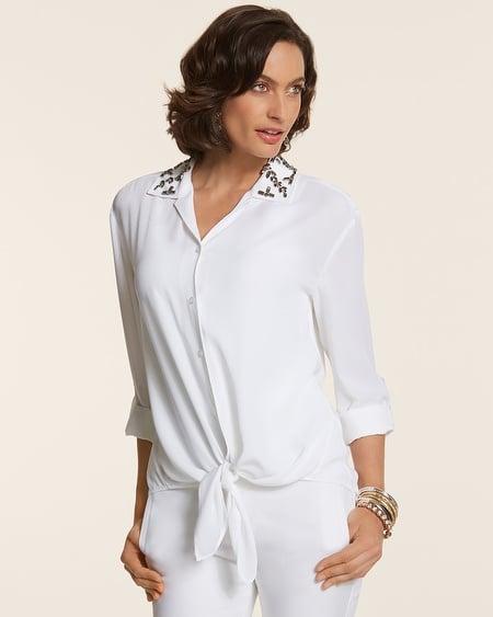 Chico's Embellished Carynn Shirt