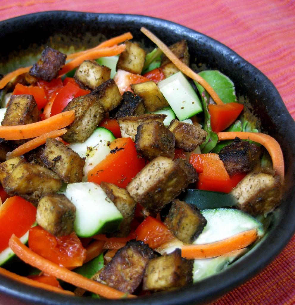 Thursday: Sautéed Tofu on Green Salad