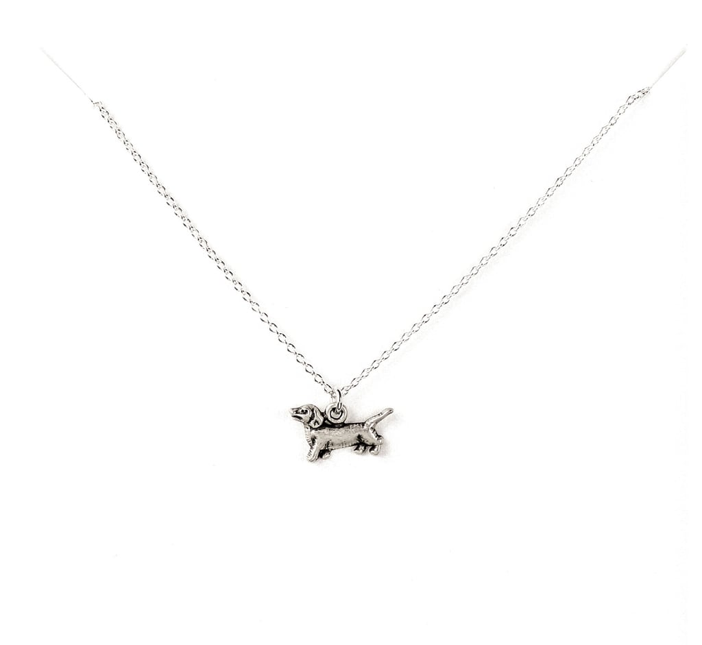 Wag by Dogeared Dachshund Sterling Silver Necklace ($48)