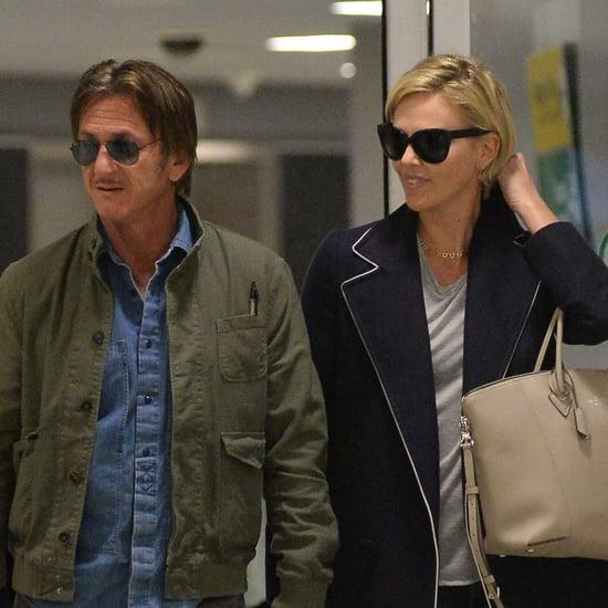 Charlize Theron and Sean Penn at JFK Airport