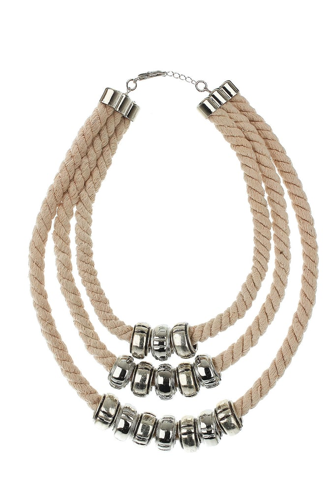 Something nautical-inspired that we'll wear with all of our striped tees.  Topshop Three Row Chunky Necklace ($40)
