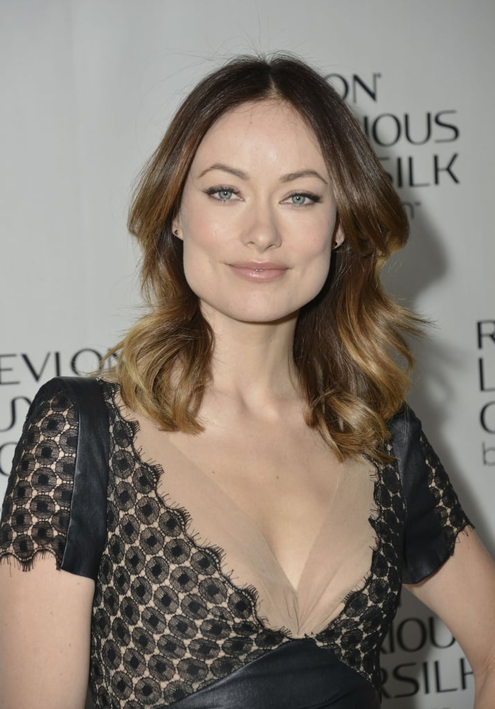 Olivia Wilde's Ariel Gordon onyx studs ($255) added a hint of shine without interfering with her detailed dress at a Revlon event in NYC.