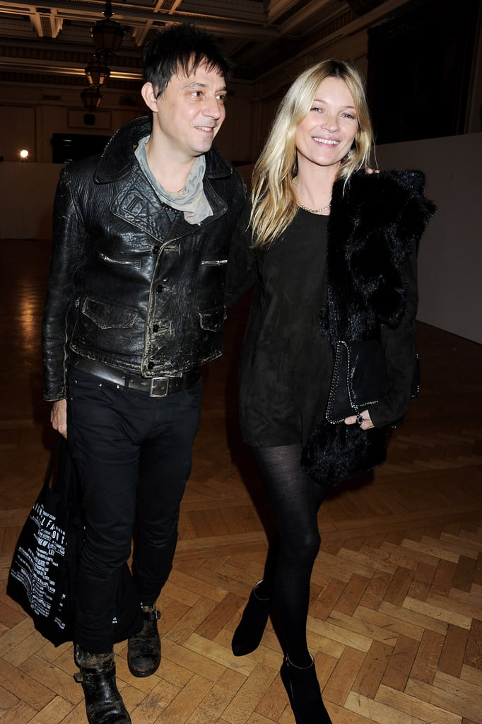 Kate Moss and Jamie Hince attended the James Small menswear show.