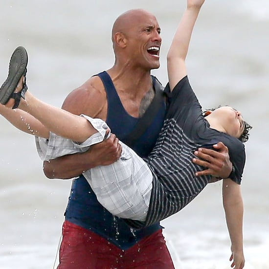Zac Efron and Dwayne Johnson on the Set of Baywatch