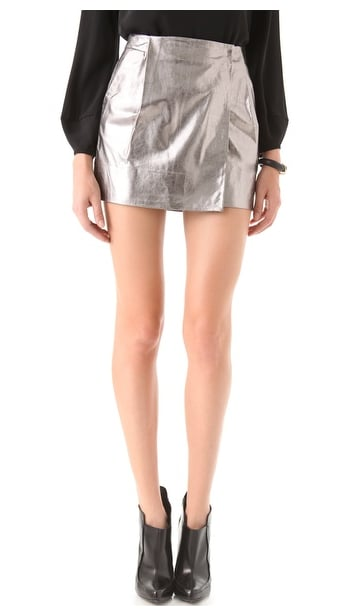 We love the thought of styling this Diane Von Furstenberg Lolita Metallic Leather Skirt ($194, originally $485) up with a classic white button-down and booties — with a statement piece like this, you don't need much else.