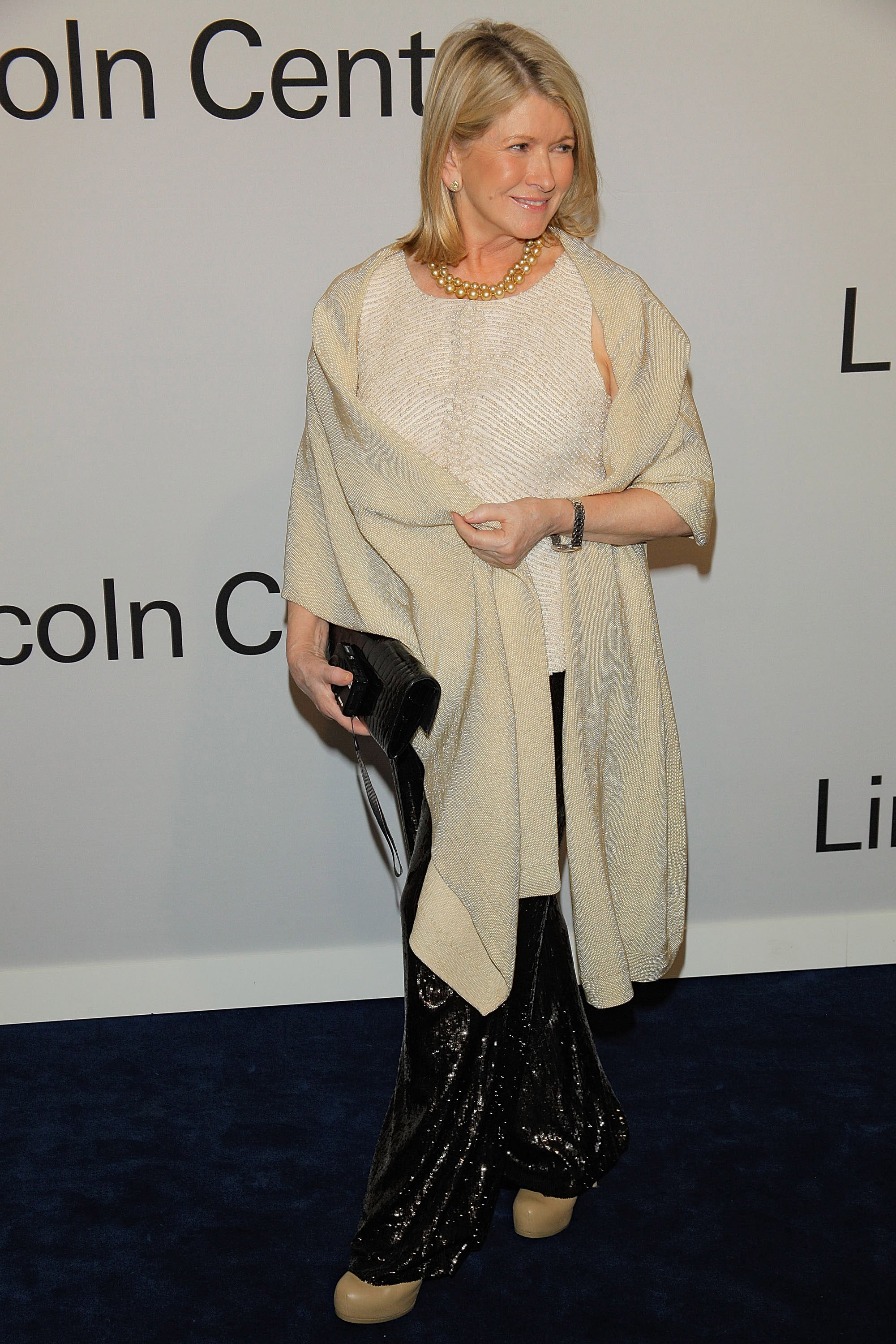 Martha Stewart wrapped up on the red carpet in NYC.