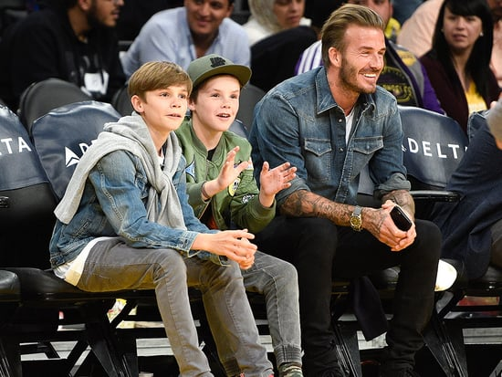 Just Hanging with the Boys: David Beckham Takes Sons Romeo and Cruz to Lakers Game