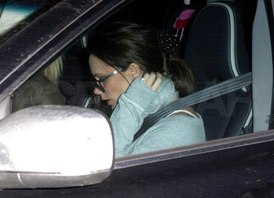 Pictures of Pregnant Victoria Beckham in England