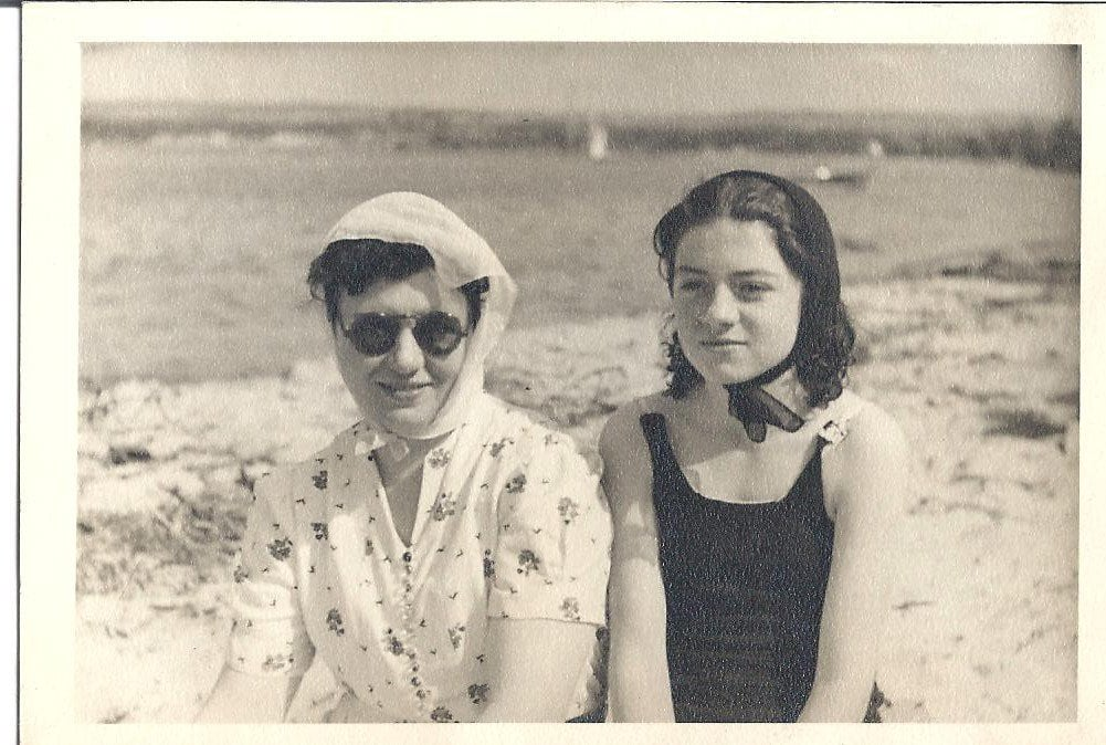 """""""My great-grandmother Mary (pictured left) wore a skirt every day of her life! To her, skirts – especially when paired with coordinating jackets – were part of her signature look. 'Dress for your body type, and you'll always feel your best,' she'd say. For her, that meant skirts in every color, fabric, and style. My grandmother Joan (pictured right) taught me you're never fully dressed without a few killer accessories . . . or five. While her sky-high heels are a thing of the past, you can still spot this amazing 90-year-old lady clad in a stylish scarf, chic pin, and her go-to rosy-red lipstick.""""  — Jaime Richards"""
