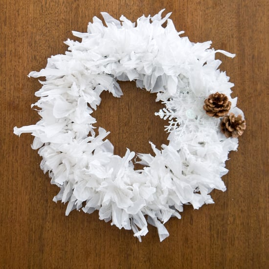 Plastic Bag Holiday Wreath