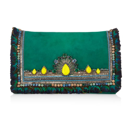 Matthew Williamson's swarovski crystal-embellished suede clutch ($1,350) is a glamorous accompaniment to any nighttime party look.