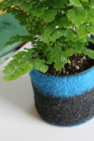 Etsy Find: Turquoise and Grey Felted Wool Bowl