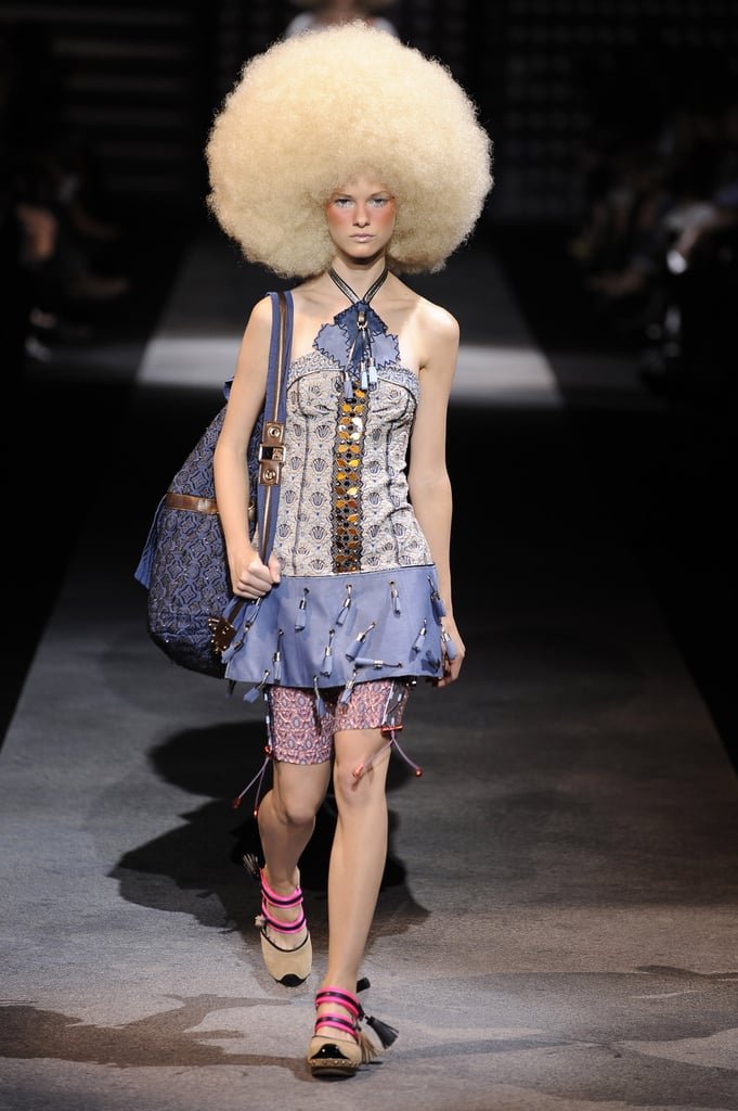 Louis Vuitton Spring 2010: All Clogs, Raccoon Tails, and Massive Fros