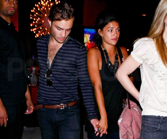 Photo Slide of Ed Westwick and Jessica Szohr After a Night Out in NYC