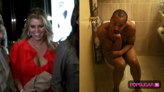 Jessica Simpson in New York City and Naked Picture of Donald Faison