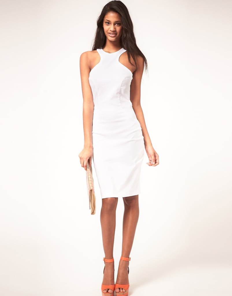 Hybrid Dress with Cut Out Racer Neck ($148)