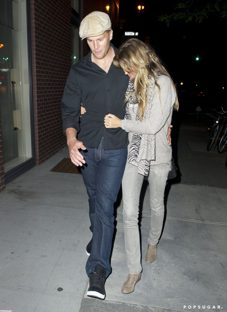 Gisele Bündchen cozied up to Tom Brady as they left dinner in NYC in May.